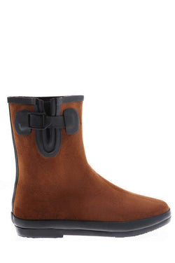 Buckle Detail Brown Welly Boots-SinglePrice