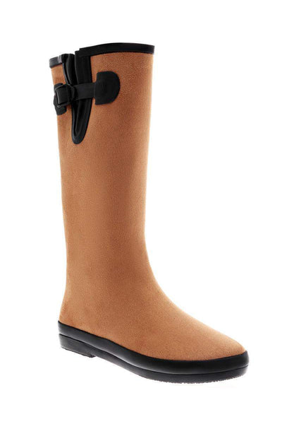 Buckle Detail Camel Tall Welly Boots-Single price