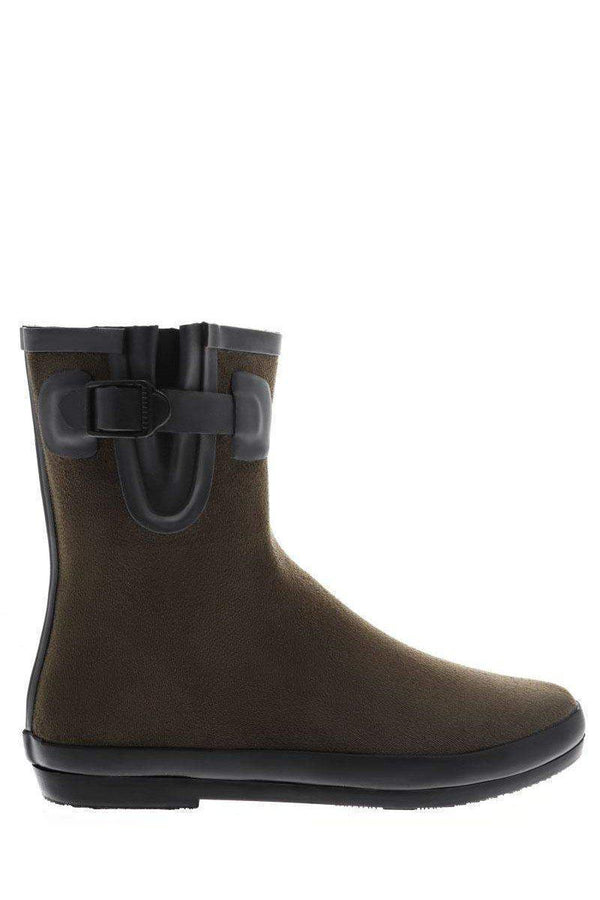 Buckle Detail Green Welly Boots-SinglePrice