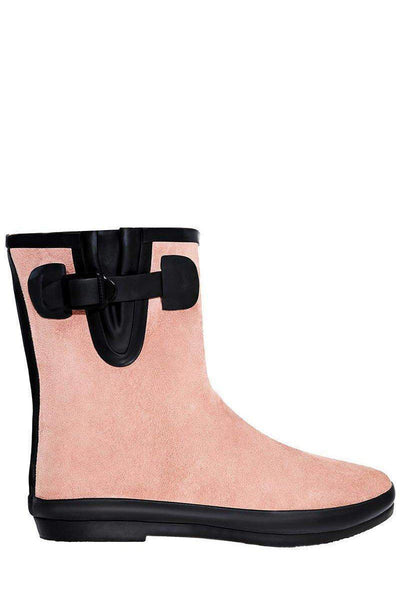 Buckle Detail Pink Welly Boots-SinglePrice