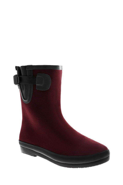 Buckle Detail Wine Welly Boots-SinglePrice