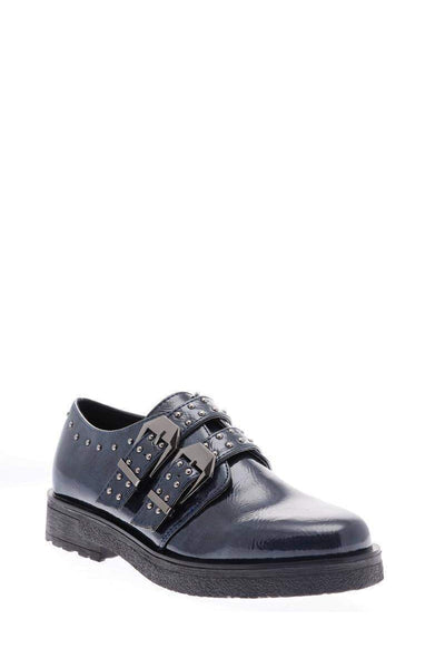Buckled Studded Blue Shoes-Single price