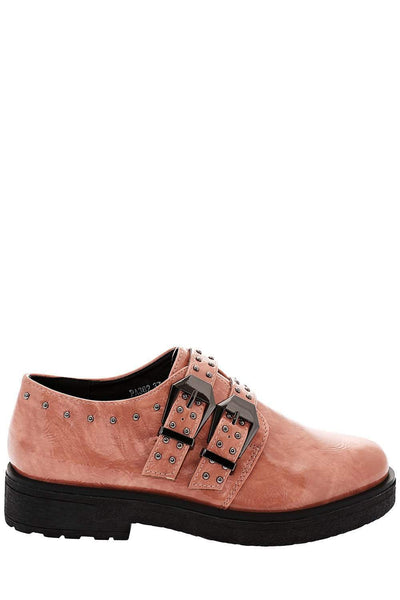 Buckled Studded Pink Shoes-Single price