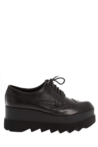 Cleated Platform Black Brogues-Single price