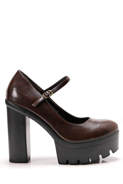 Cleated Sole Platform Heels-Single price