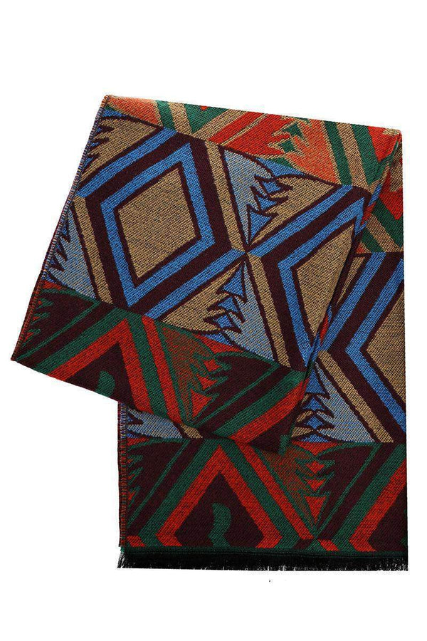 Colour Block Pattern Multicolour Scarf - SinglePrice