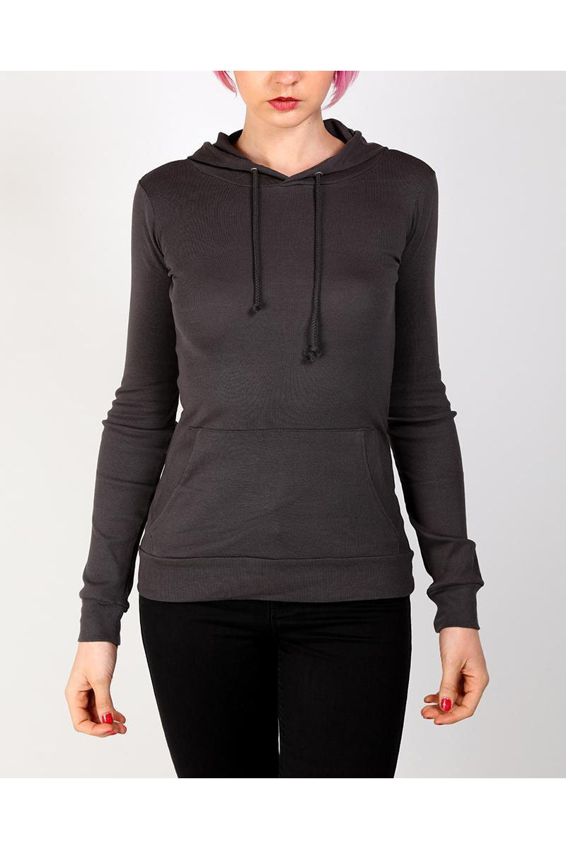Dark Grey Fitted Thin Hoodie-SinglePrice