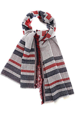Diamond Stripes Pattern Red Scarf-Single price