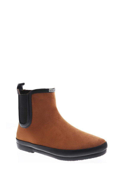 Elastic Sides Brown Ankle Welly Boots-SinglePrice