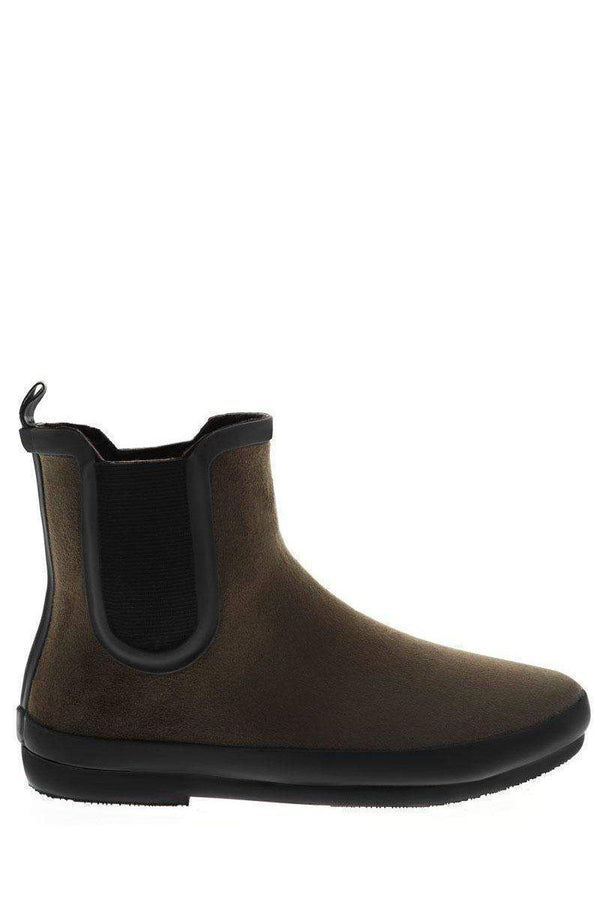 Elastic Sides Green Ankle Welly Boots-SinglePrice