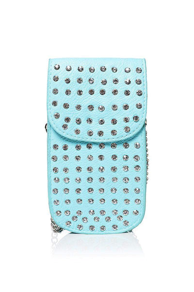 Embellished Blue Smartphone Cross Body Bag-SinglePrice