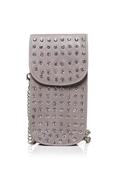 Embellished Grey Smartphone Cross Body Bag-SinglePrice