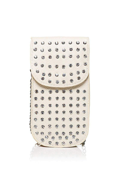 Embellished Nude Smartphone Cross Body Bag-SinglePrice
