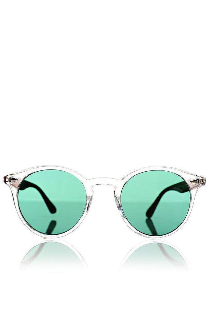 d312542de1 Faux Wooden Arms Green Clear Sunglasses – SinglePrice