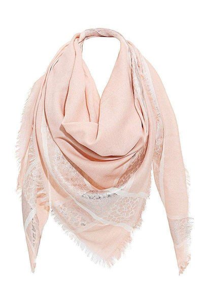 Foil Leopard Print Pink Square Scarf-SinglePrice