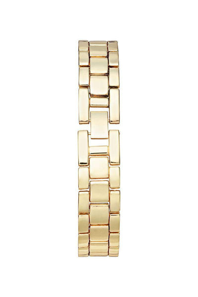 Gold Band Ribbed Black Dial Watch-SinglePrice
