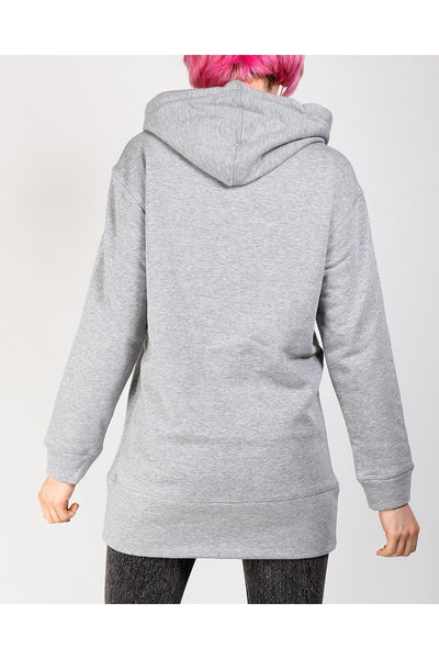 Grey Thick Long Hoodie-SinglePrice