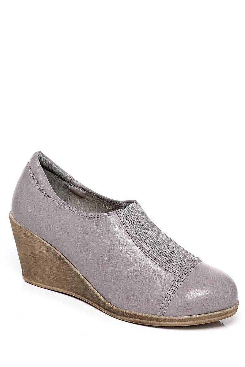 Grey Wedge Shoes - SinglePrice