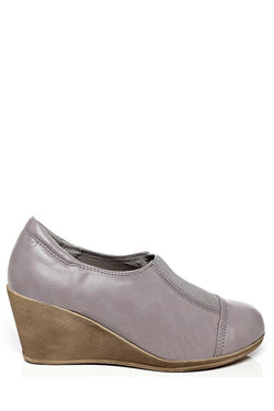 Grey Wedge Shoes-SinglePrice
