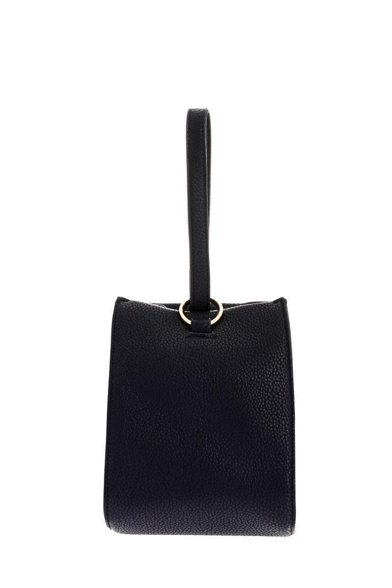 Hand Strap Navy Bucket Bag-Single price