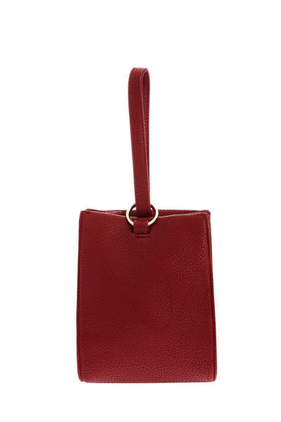 Hand Strap Red Bucket Bag-Single price