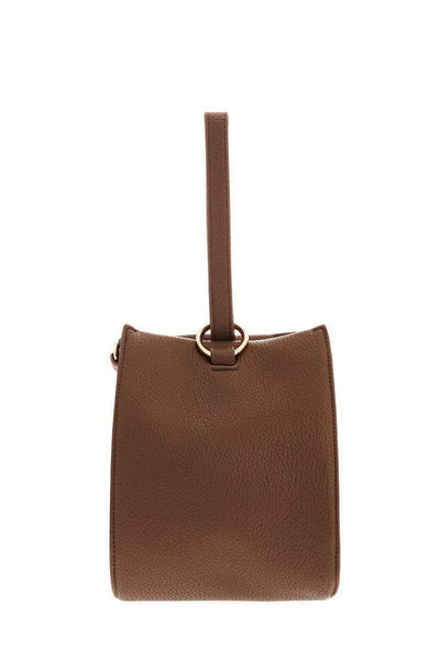 Hand Strap Taupe Bucket Bag-Single price