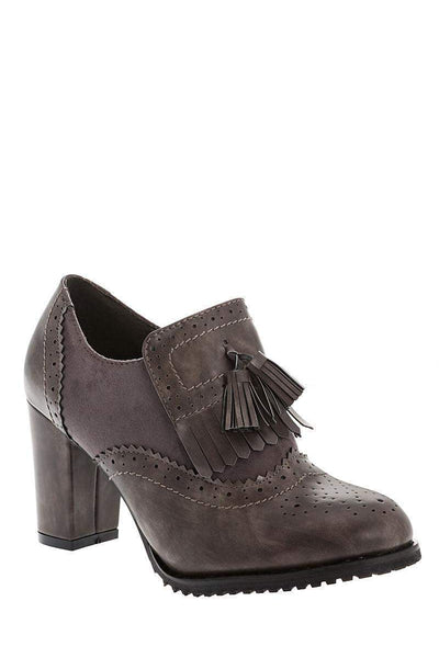 Heeled Grey Brogues-Single price
