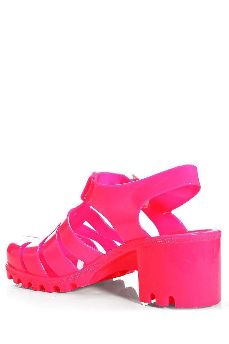 Hot Pink Jelly Sandals-Single price
