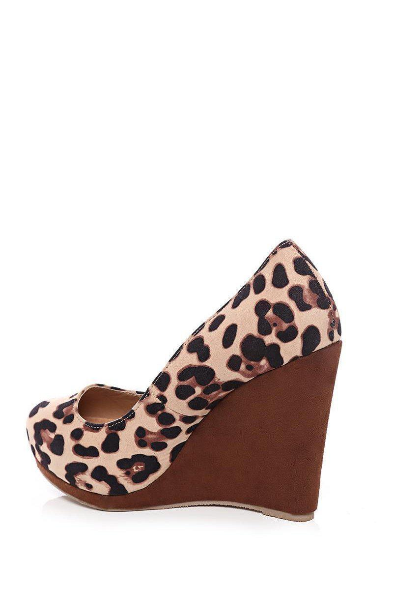 Get Leopard Print Wedge Shoes for only