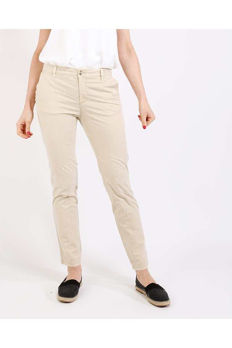 Light Beige Chino Trousers-SinglePrice