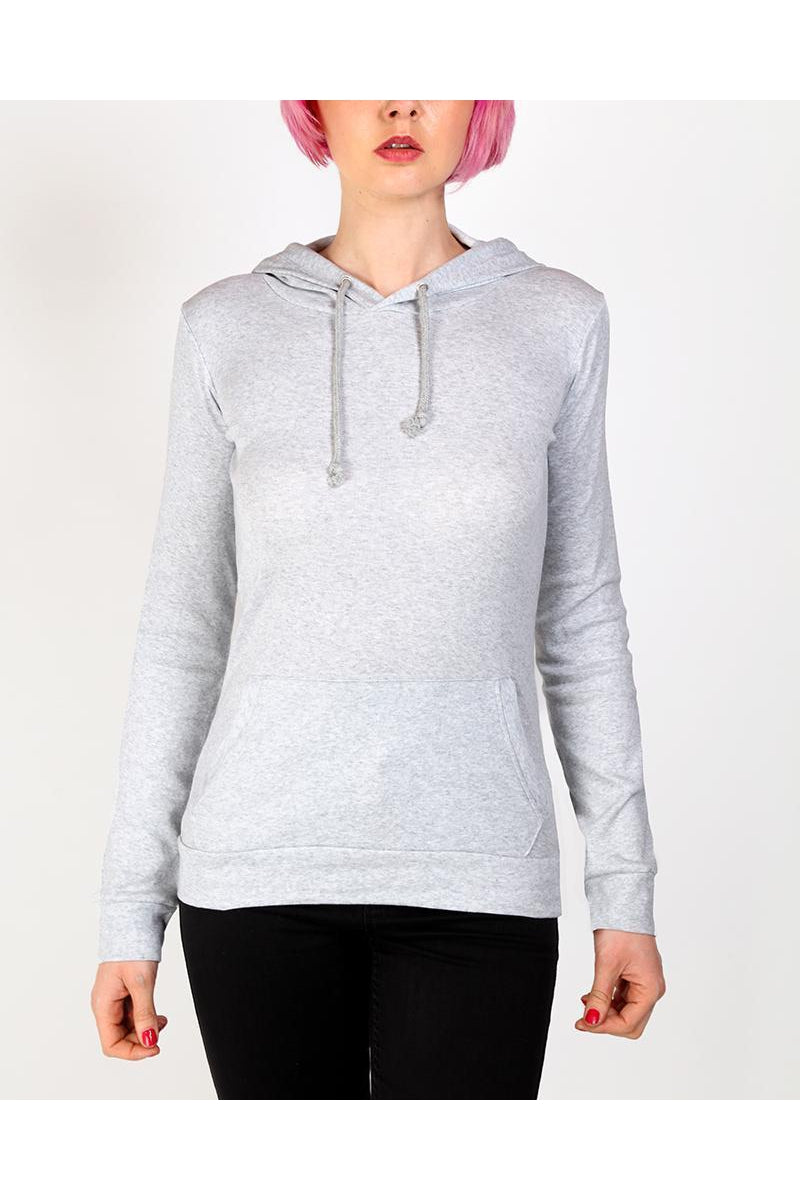 Light Grey Fitted Thin Hoodie-SinglePrice