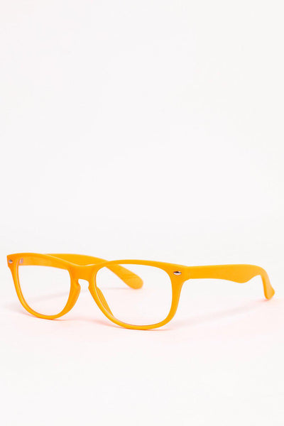 Ligt Orange Frame Clear Lens Glasses-SinglePrice
