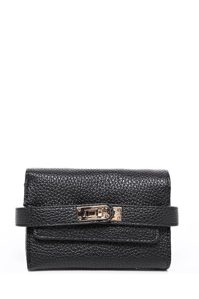 Lock Strap Small Black Purse-SinglePrice