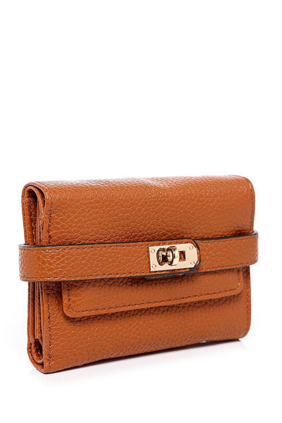 Lock Strap Small Brown Purse-SinglePrice