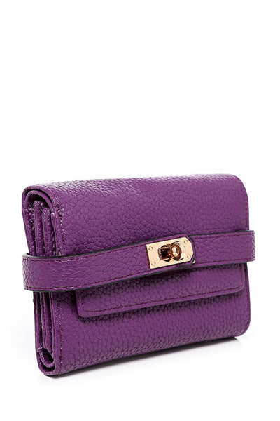 Lock Strap Small Purple Purse-SinglePrice