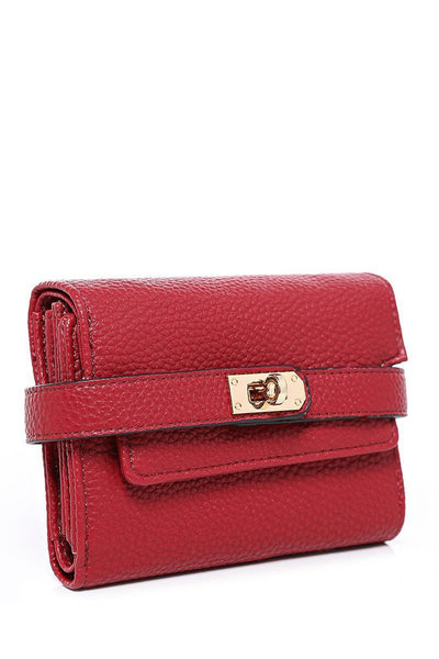 Lock Strap Small Red Purse-SinglePrice