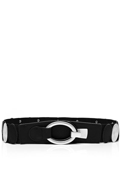 Median Details Black Elastic Belt-SinglePrice