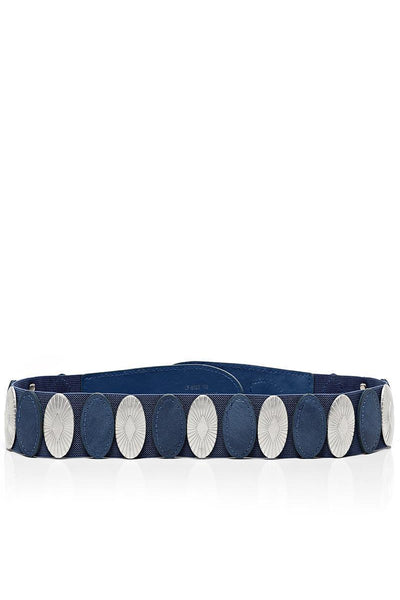 Median Details Blue Elastic Belt-SinglePrice