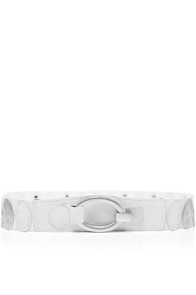Median Details White Elastic Belt-SinglePrice