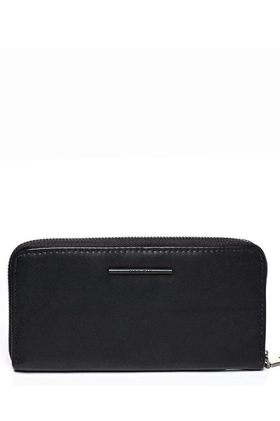Metal Bar Dark Black Purse-SinglePrice