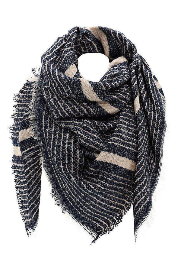 Mixed Stripes Joe Green Square Scarf-SinglePrice