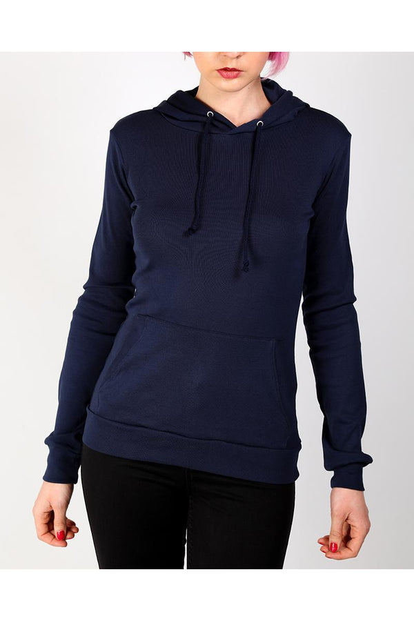 Navy Fitted Thin Hoodie-SinglePrice