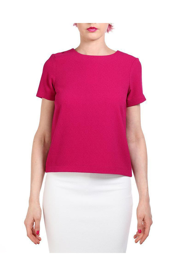 Purple Textured Shift Top-SinglePrice