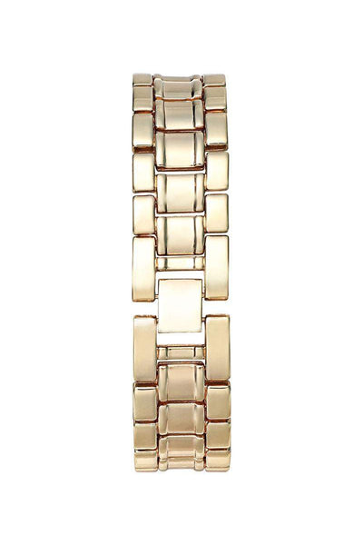 Roman Digits Gold Band Silver Dial Watch-SinglePrice