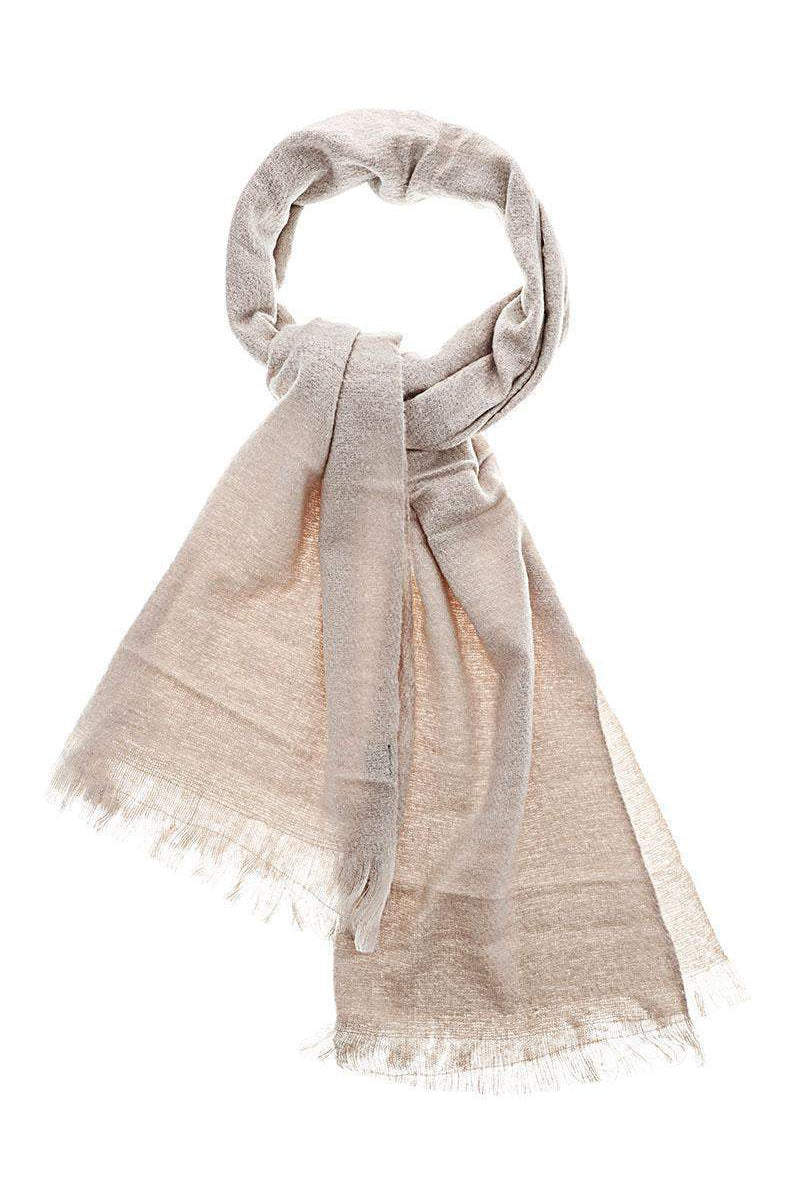Sheer Knit Grey Scarf - SinglePrice