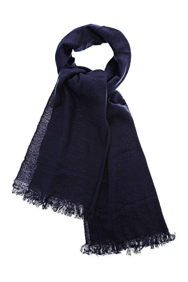 Sheer Knit Navy Scarf - SinglePrice