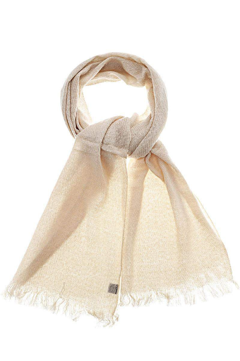 Sheer Knit Off White Scarf - SinglePrice