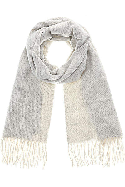 Shimmer Knit White Winter Scarf-Single price