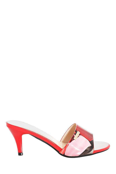 Slip In Red Kitten Heels-Single price