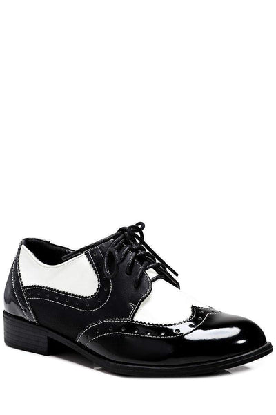 Square Heel Monochrome Brogues-Single price